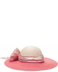 rosa verzierter Hut