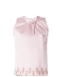 rosa verziertes ärmelloses Oberteil von MSGM