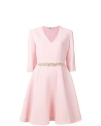 rosa verziertes ausgestelltes Kleid von Lanvin
