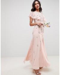 rosa verziertes Ballkleid von ASOS DESIGN
