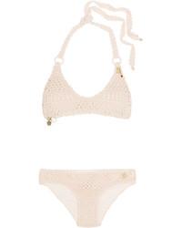 rosa verziertes Häkel Bikinioberteil von Stella McCartney