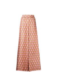 rosa weite Hose mit geometrischem Muster von La Doublej