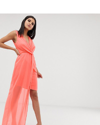 rosa Wickelkleid von TFNC Tall