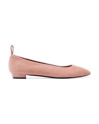 rosa Wildleder Ballerinas von The Row
