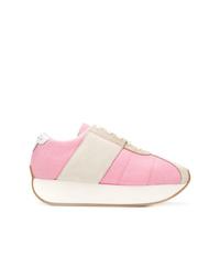 rosa Wildleder niedrige Sneakers von Marni