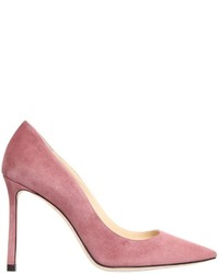 rosa Wildleder Pumps
