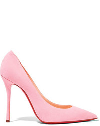 rosa Wildleder Pumps von Christian Louboutin