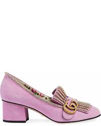 rosa Wildleder Pumps von Gucci