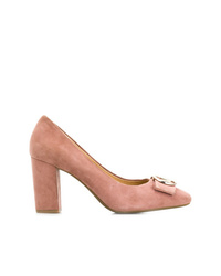rosa Wildleder Pumps von Michael Kors