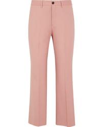 rosa Wollschlaghose von Miu Miu