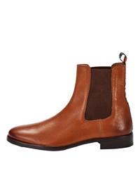 rotbraune Chelsea Boots aus Leder von CRICKIT
