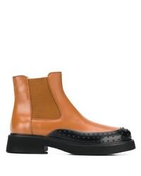 rotbraune Chelsea Boots aus Leder von Tod's
