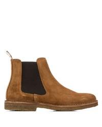 rotbraune Chelsea-Stiefel aus Wildleder von Astorflex