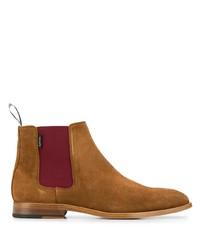 rotbraune Chelsea Boots aus Wildleder von PS Paul Smith