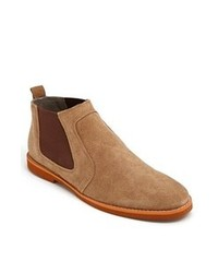 rotbraune Chelsea Boots