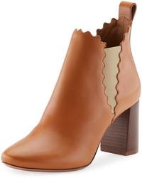 6f4213ababee89 Rotbraune Chelsea-Stiefel aus Leder für Damen kombinieren (18 ...