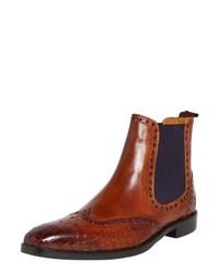 rotbraune Chelsea-Stiefel aus Leder von Melvin&Hamilton