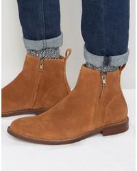 rotbraune Chelsea-Stiefel aus Wildleder von Aldo