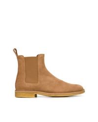 rotbraune Chelsea-Stiefel aus Wildleder von Bottega Veneta
