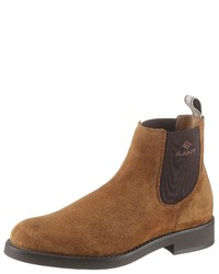 rotbraune Chelsea-Stiefel aus Wildleder von Gant Footwear