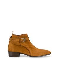 rotbraune Chelsea-Stiefel aus Wildleder von Lidfort
