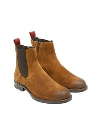 rotbraune Chelsea-Stiefel aus Wildleder von Marc O'Polo