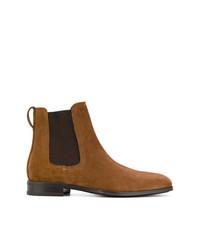 rotbraune Chelsea-Stiefel aus Wildleder von Salvatore Ferragamo