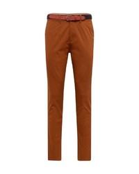 rotbraune Chinohose von Selected Homme