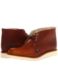 rotbraune Chukka-Stiefel aus Leder