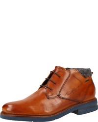 rotbraune Chukka-Stiefel aus Leder von Daniel Hechter