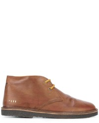 rotbraune Chukka-Stiefel aus Leder von Golden Goose Deluxe Brand