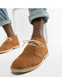 rotbraune Chukka-Stiefel aus Wildleder von ASOS DESIGN