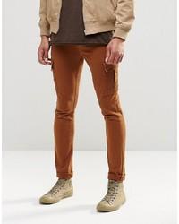 rotbraune enge Jeans von Asos