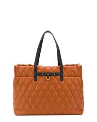 rotbraune gesteppte Shopper Tasche aus Leder von Givenchy