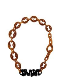 rotbraune Halskette von Prada
