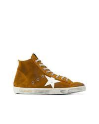rotbraune hohe Sneakers aus Wildleder von Golden Goose Deluxe Brand