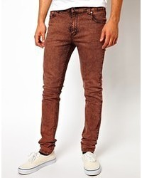 rotbraune Jeans