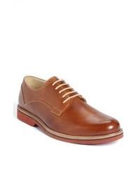 rotbraune Leder Derby Schuhe
