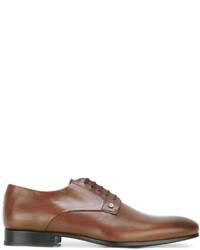rotbraune Leder Derby Schuhe von Kenzo