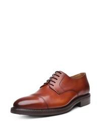 rotbraune Leder Derby Schuhe von SHOEPASSION