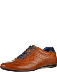 rotbraune Leder niedrige Sneakers von Daniel Hechter