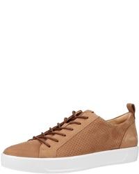rotbraune Leder niedrige Sneakers von Ecco