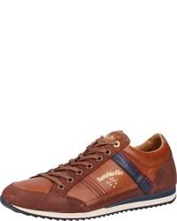 rotbraune Leder niedrige Sneakers von Pantofola D'oro