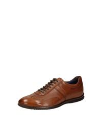 rotbraune Leder niedrige Sneakers von Sioux