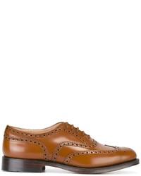 Rotbraune Leder Oxford Schuhe von Church's