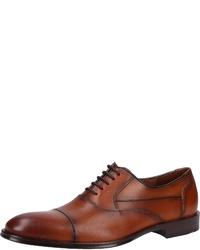 rotbraune Leder Oxford Schuhe von Lloyd