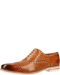 rotbraune Leder Oxford Schuhe von Melvin&Hamilton