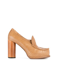 rotbraune Leder Pumps von Stella McCartney