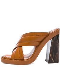 rotbraune Leder Sandaletten