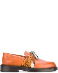 rotbraune Leder Slipper von Maison Margiela